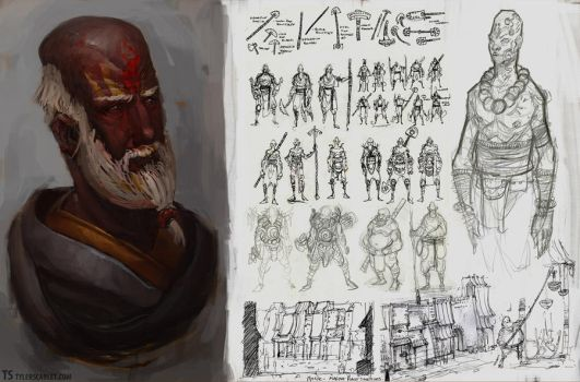 Monk Sketches by TylerScarlet