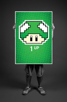 1 Up Mushroom Poster by Yeti-Labs