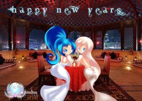 Happy new years - Table for 2 by hachimitsu-ink