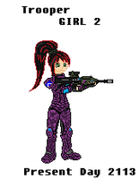 Trooper Girl 2 Pixel Art by Luckymarine577