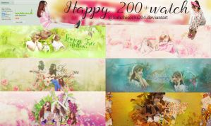 [251115][PSD Free] Happy 200+watches by MinaVyy by linhchisociu204