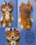 Cheetah Plushie Commission by dragongoddess