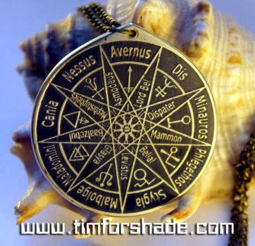 Nine Hells and layer Rulers solomon seal pendant by TimforShade