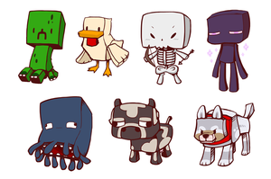 Minecraft mobs by Zerochan923600