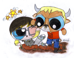 Monster High Powerpuffs- Jackson n Manny by RandomObsessive
