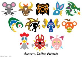 Zodiac Animal Symbols by Tibby101