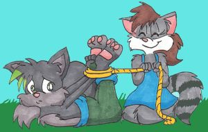 Request- Hogtied Shadow by lilyraccoon