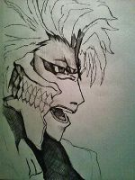 Unfinished Grimmjow sketching by Panicatthedisco7