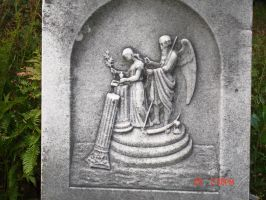 Cemetary art Father Time by seaglasshunter