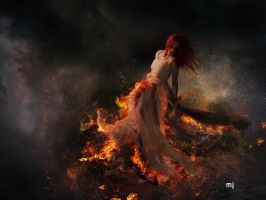 Girl on Flame by Eithen