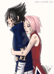 SasuSaku Forest of Death by Laine-O
