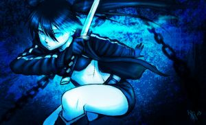 Black Rock Shooter - fanart by nocturnalMoTH