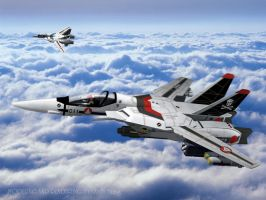 Robotech Macross in 3D 'VF-1A' by jedizebi