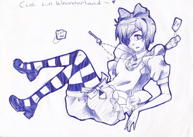 Ciel in Wonderland by Skaubzz