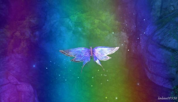 Aion ~ Rainbow and butterfly by lalax00356
