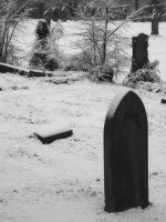 Snowy Grave yard by Evil-elz