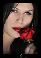 ...Lady with rose... by canismaioris