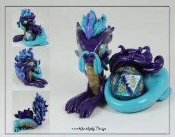 Purple and Teal Oriental Dragon by ShaidySkyDesign