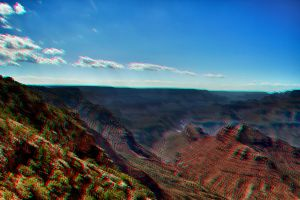 Grand Canyon 3D Anaglyph by FastDevil76