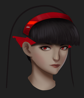 WIP Untitled Brush Test - Freya Portrait by Valhalla-Studios