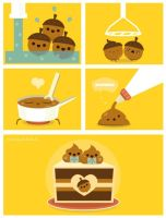 How to Make Acorn Dessert by RoseyCheekes