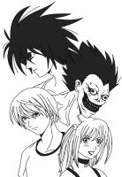 Death Note traced by ViperXtreme