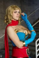 DC Bombshell Supergirl -Look at my glove! by JFamily