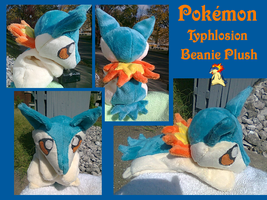 Typhlosion Beanie Plush by methuselah-alchemist