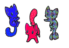 Coloerd Kittie Adoptables Moved to different Group by turtle9334