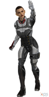ME3 Jack Shade Armor (XPS) by SonYume