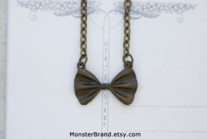 Tiny Bow Tie Necklace by MonsterBrandCrafts