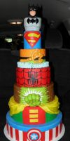 Super Hero Cake by streboradnama