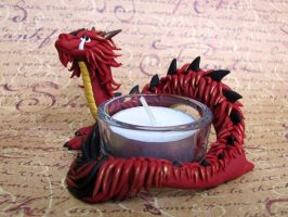 Chinese Dragon Candle Holder by DragonsAndBeasties
