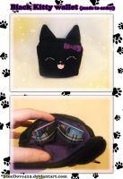 Black Kitty wallet by BlueDove415