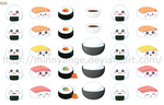 sushi icons by minnyange
