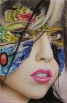 GaGaterfly Colored Pencil Version by im-sorry-thx-all-bye