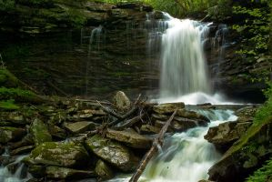 Hills Creek Waterfalls by GoGoGodzirra