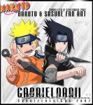 Naruto and Sasuke Fan Art by TheNotoriousGAB