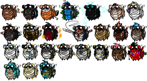 Sharpei Collection! (Will Add Your OC In!) by BipolarWolfy