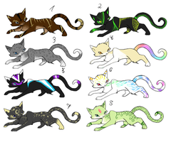 Cat Adoptables by Psunna
