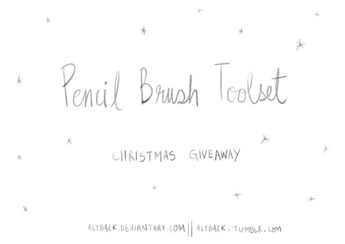 PencilBrushToolset_Giveaway link by altback