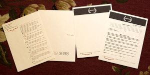 personal resume and letterhead by skryingbreath