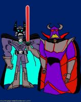 Dark Laser and Emperor Zurg by VoyagerHawk87