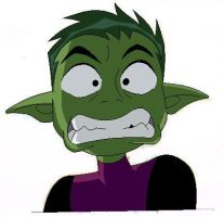 Beast Boy Drawing Colour by TonicShadow