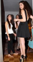 Tall girl short girl at party by lowerrider