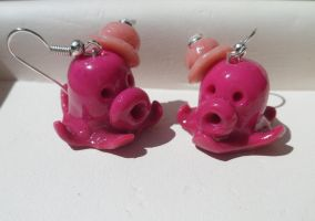 Fancy Octopus Earrings :3 by Ivy-Mauve