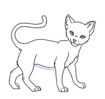Cat Lineart 04 by Aira90