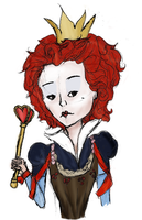 Red Queen- COLORED by xxBookworm
