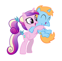 Harmony Star being Foalsitted by Cadance - Request by NinjamissenDk