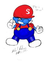 IT'S A ME...SMURF by ArtisanNoirHouse